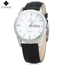 <b>Dropshipping</b> WWOOR 8801 Male Leather Band Quartz Watch Date ...