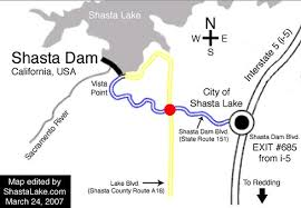 Image result for shasta dam flood map