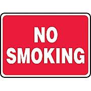 Accuform Signs 7u0026quot X 10u0026quot Plastic Smoking Control Sign U0026quotNO SMOKINGu0026quot  T