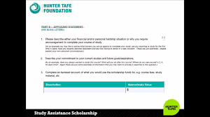 how to apply for a hunter tafe foundation study assistance how to apply for a hunter tafe foundation study assistance scholarship