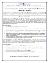 Resume Examples  Free Resume Objective For Financial Product Sales With Competitive Adventages And Career Highlights