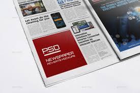newspaper advert mockups by diephay graphicriver newspaper advert mockups