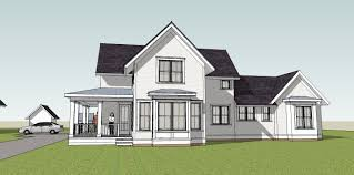 Simply Elegant Home Designs Blog  January Simple yet unique farmhouse plan   a wrap around porch and a main floor master bedroom  Classic Midwest Living