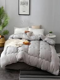 Buy Comforter Pure Color <b>Elegant</b> Comfy <b>Spring Autumn</b> Quilt ...