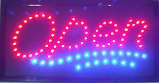 Open Sign High Visible <b>Bright</b> Stylish Led <b>Moving</b> Flashing ...