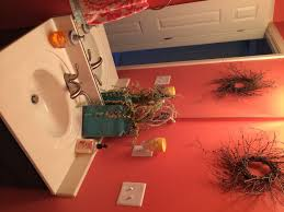 coral bathroom accessories cute design