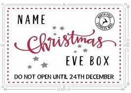 Personalised <b>Christmas</b> Box Sticker <b>digital print</b> sticker 372 ...