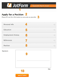 job application form 101 jotform we ve also shared the example form at the end of this article which will help you a lot take a couple of minutes to be a pro on job application forms