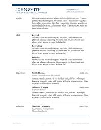 elegant resume template word free traditional resume templates