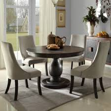 Distressed Dining Room Chairs Homelegance Dandelion Round Pedestal Dining Table In Distressed