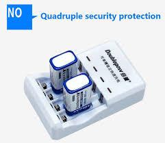 Online Shop <b>2PCS</b> 9 V 6f22 Rechargeable Battery 280 mAh Battery ...