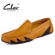 <b>Clax Men</b> Leather Flats <b>Shoes 2019</b> Spring Summer <b>Men's</b> Boat ...