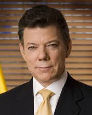 Juan Manuel Santos. President of the Republic of Colombia. Juan Manuel Santos is serving his first four-year term as president of the Republic of Colombia. - Santos_Juan_Manuel_DA