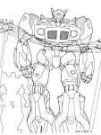 Робот оптимус прайм раскраски