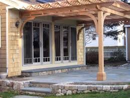 Pergolas  Pergola pictures and Beams on PinterestAttached Pergola  No extra inside beams  Main beams are connected directly to house
