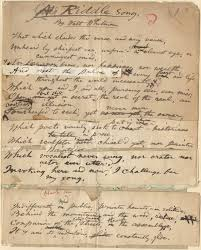 catalog of the walt whitman literary manuscripts in the walt content manuscript and corrected proof of a riddle song a poem which first appeared in the tarrytown sunnyside press on 3 1880