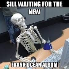 Sill waiting for the new Frank Ocean album - Skeleton computer ... via Relatably.com