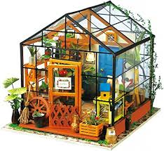 ROBOTIME DIY Dollhouse Wooden Miniature ... - Amazon.com