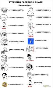 how to make rage comic faces in a facebook chat   Some funnies ... via Relatably.com