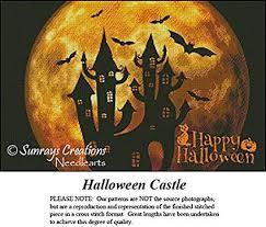 Vintage Cross Stitch Pattern | Halloween Castle ... - Amazon.com