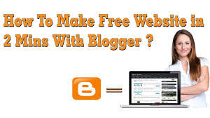 how to make website in 2 mins blogger how to make website in 2 mins blogger