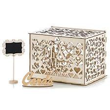 Diy Gift Card Box Holder with Slot - Wedding Card box ... - Amazon.com