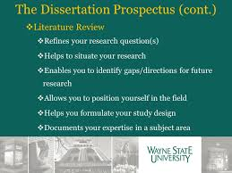 The Dissertation Prospectus  cont       Literature Review     Refines your research question  SlidePlayer
