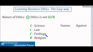 nature of ethics business ethics ca ipcc law ethics and nature of ethics business ethics ca ipcc law ethics and communication lecture