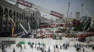 Scene of crane collapse in