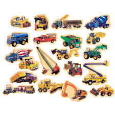 t s shure construction vehicles wooden magnets magnafun set  t s shure construction vehicles wooden magnets magnafun set 20 pieces com