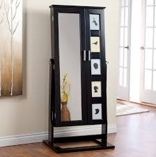 bedroom full length mirror locking black jewelry armoire with cheval mirror and lock for home fur