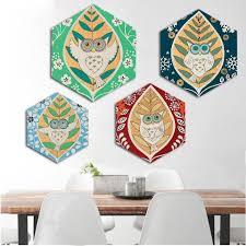 Canvas <b>Wall Art</b> - <b>Abstract</b> Leaf Owl - Hexagonal — LOLA DOO