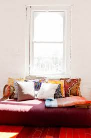 living room mattress: mattress pillow topper living room eclectic with brick wall day