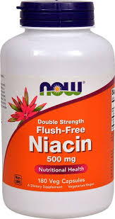 NOW Foods Niacin Flush-Free, 500 mg - 180 Vcaps - King Soopers