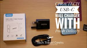 Choetech <b>18W USB</b>-<b>C</b> Wall Charger with <b>Power</b> Delivery Unboxing ...