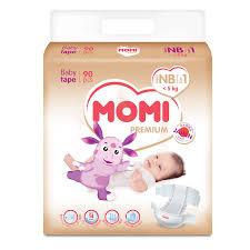 <b>Подгузники Momi Premium NB</b> 0-5 кг 90 шт.