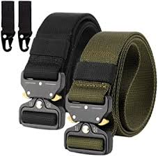 (2 Pack) <b>Mens</b> Tactical <b>Belt</b>, Military <b>Belt</b> Nylon Canvas Heavy Duty ...