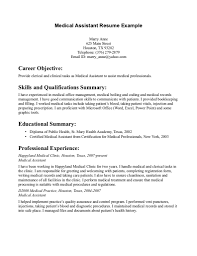 medical assistant resume experience experience resumes resume examples medical assistant truwork co