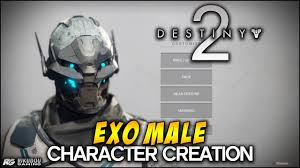 Destiny 2 - Exo Male Character Creation - YouTube