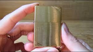 <b>Зажигалка Zippo</b> 240 <b>Vintage</b> Brushed Fin Brass (Видео обзор ...