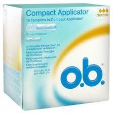 o.b. <b>Compact Applicator</b> 16 <b>Normal</b> Tampons