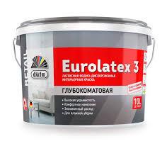 <b>Краска</b> Dufa <b>Retail</b> интерьерная <b>Eurolatex 3</b> купить по цене от 549 ...
