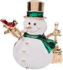 ExhilaraZ Exquisite Unisex <b>Christmas Snowman Shape</b> Brooch Pin ...