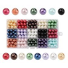 PH PandaHall 1 Box(270pcs,<b>18pcs</b>/Color) 15 Color Dyed <b>Round</b> ...