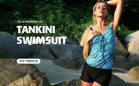 ATTRACO Women's Floral Printed Tankini Swimsuits ... - Amazon.com