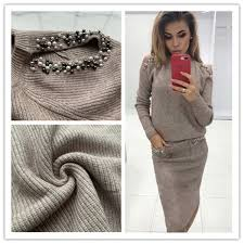 <b>2019 Bleading Sweater Women</b> Suits Fashion Shoulder Off Sleeve