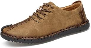 TUCSSON <b>Men's</b> Handmade Suede <b>Leather</b> Oxford <b>Shoes British</b>