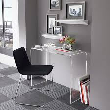 acrylic office chairs. OfficeGorgeous Home Office With Acrylic Desk And Wicker Chairs Also Black Cabinet Table
