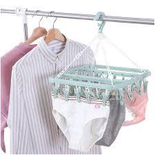 <b>Multi</b>-<b>clip clothes drying rack</b>, socks and <b>clothes</b> drying function clip ...