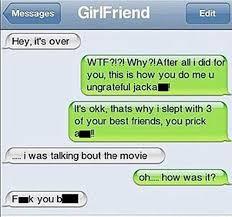 20 Hilarious Break Up Texts | SMOSH via Relatably.com